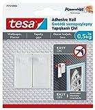 tesa 77772–00002–00abnehmbarer selbstklebend Nail für Bild hängen auf Tapete, Weiß
