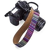 Beaspire Correa de Hombro Cuello Ajustable de Algodón Suave para Cámara Réflex DSLR Canon Nikon Pentax Sony (Correa-17 Morado)