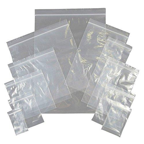 Thali Outlet–100x sachets 22,9x 32,4cm A4en plastique transparent refermable hermétique étanche pour nourriture congélation ou de stockage