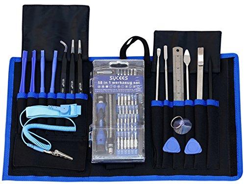 Preisvergleich Produktbild SYCEES 74 in 1 Schraubendreher Set Magnet Bits Reparatur Werkzeugset für iPad, iPhone, Tablets, Laptops, PC, Smartphones