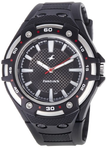 Fastrack New OTS Analog Black Dial Men's Watch -NK9332PP02