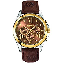 Versus by Versace Herren sbh030015Chrono Löwe Analog Armbanduhr Display braun Quarz