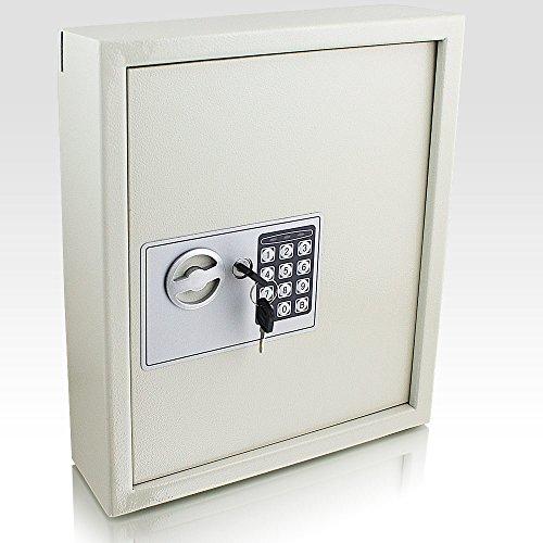 Elektronischer Schlüsselsafe Safe Tresor Schlüsselkasten Schlüsseltresor Schlüssel Sicherheitssafe mit 48 Schlüsselhaken Lichtgau