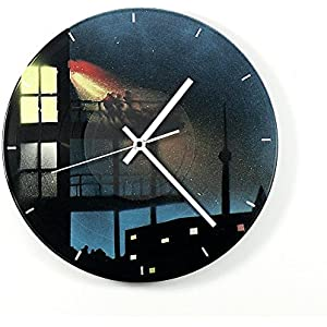 Uhr Wanduhr Fireworks 3 Vinyluhr Schallplattenuhr