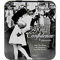 Vintage Style Kiss with Confidence Peppermints in a Gift Tin Dulces en Estaño Caja de Regalo x 1