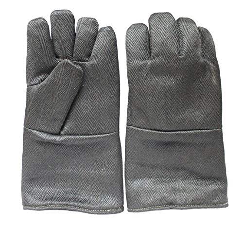 GG-gloves Resistencia a Altas temperaturas 1200 Grados ignífugos Aislamiento Anti-escaldadura Gruesas Guantes...