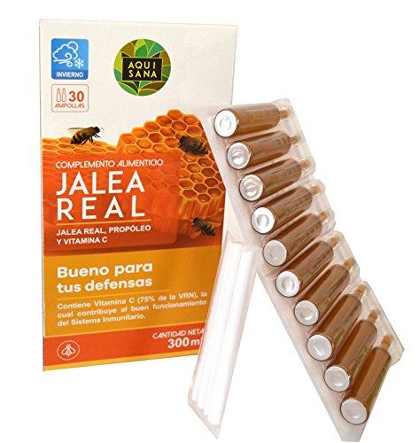 Jalea Real Aquisana - Propoleo y Vitamina C - 30 Ampollas de 10ml Sistema Inmune