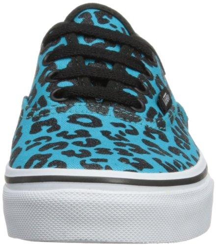 Vans T Authentic, Baskets mode mixte bébé Turquoise (Glitter Cheetah/Peacock)
