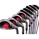 "Extreme X5 Wide Sole IBRID Iron Set +1"" Over Big & Tall Senior Men's Complete 8-Piece Set (4-SW) Right Handed Senior Flex A Flex Club (Tall 6'0""+/+1"" Over) With Midsize Black Pro Velvet Grip"