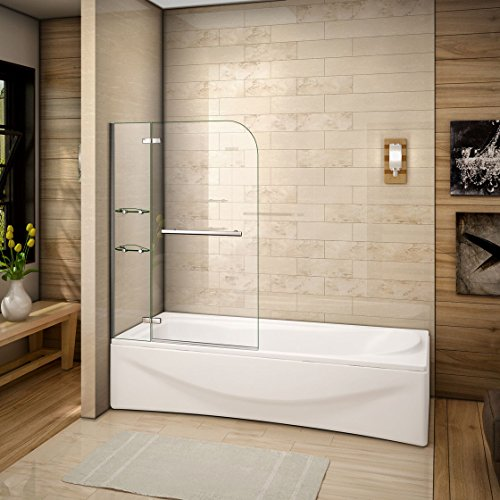 100x140cm Mamparas baño pantalla para bañera de vidrio templado de A