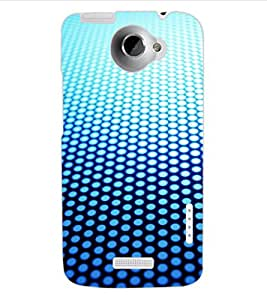 ColourCraft Dots Pattern Design Back Case Cover for HTC ONE X