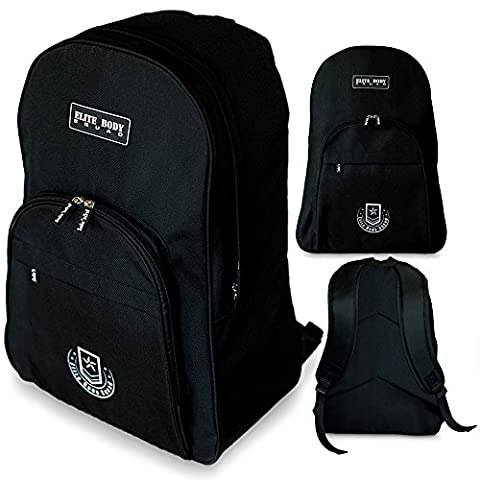Black Backpack - Elite Body Squad Sports Rucksack - Perfect