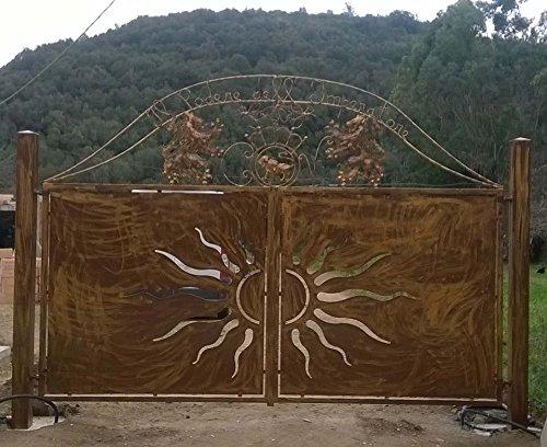 Cancello carrabile ferro battuto . realizzazioni personalizzate . 191