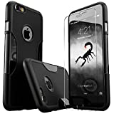 iPhone 6Plus caso, negro-resistente, fina y ligera, iPhone 6Plus (2014)/Apple Iphone 6s Plus (2015), incluye [de cristal templado Protector de pantalla y capucha Profesional de cámara], por Sahara Case...
