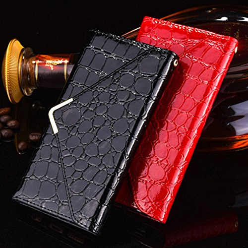 iPhone Case Cover Crocodile motif PU cuir Case Wallet Case V Patern magnétique Buckle Enveloppe Housse Housse Style Pour IPhone 7 ( Color : Red , Size : IPhone 7 ) Red