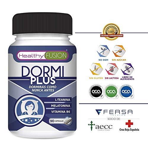 DormiPlus - Melatonina Pura + L-Teanina + Vitamina B6 - El Más Potente y Eficaz