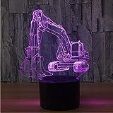 La novità ha condotto la banca di potere della lampada del LED ha condotto i dispositivi di illuminazione dei bambini 3d Lampade da tavolo del macchinario di escavazione della lampada dei bambini
