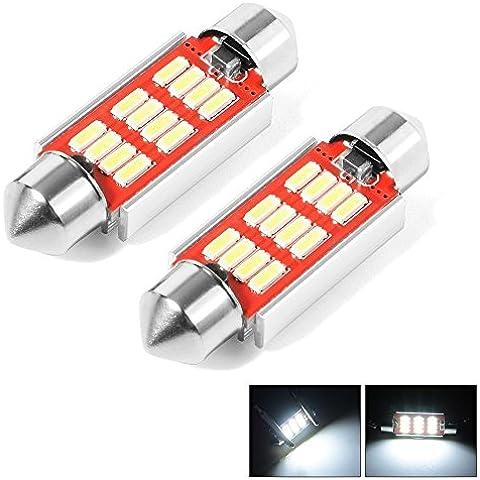 XCSOURCE Auto 36 millimetri del festone delle lampadine 4014 SMD 12 LED C5W / C10W DC 12V per l'automobile cupola interna, Numero targa LED Light MA540