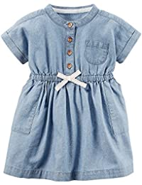 Carter's Baby Girls' Chambray Shirt Dress 3 Months