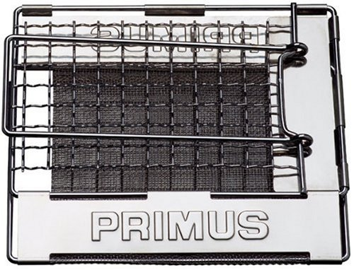 Primus ToasterProduct Description:Collapsible toaster in stainless steel. The mesh net Distributes the heat over the bread slices. Should only be used with a gas stove.Specifications:Item: 720661Height: 15 mm (0.6 inch)Length: 167 mm (6.6 inches)Widt...