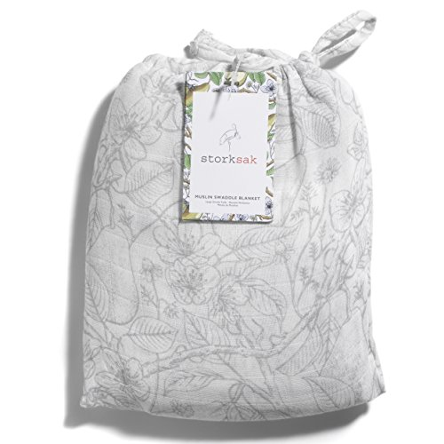 Storksak Musselin, Garten Print