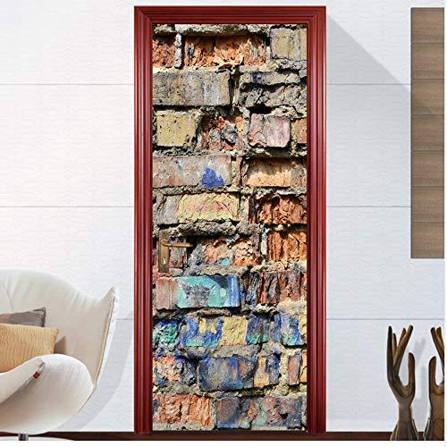 WFYY Türaufkleber Moderne Vintage Ziegel Fensterglas Nach Bekleidungsgeschäft Einkaufszentrum Label Drop Einkaufen Preis 77X200Cm -