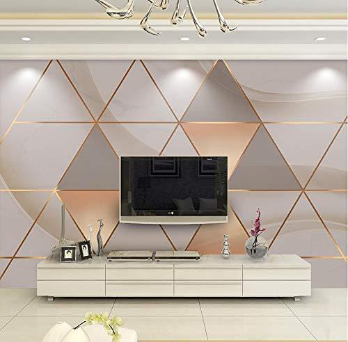 Einfache moderne nordische geometrische Dreieck-Tapete 3D Stereo-Tapete TV-Hintergrundbild Film- und TV-Hintergrundbild im Wohnzimmer, 350 × 245 cm (Halloween-filme Im Tv)