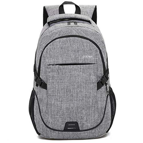 Reiserucksack Großer Computerrucksack Nylontuch Atmungsaktive und tragbare Taschen Für Männer Frauen Für 15,6 Zoll Laptop Und Notebook (Color : Gray)