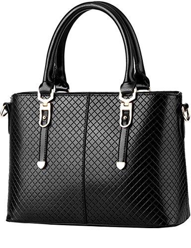 Menschwear Leather Tote Bag lucida PU nuove signore borsa a tracolla Rame Nero