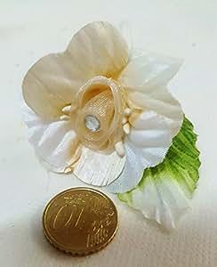 Confezione 36 pezzi-fiori, Bomboniera fiore x segnaposto,SANDY, composizione confetti. (siiaxs28) (BEIGE)