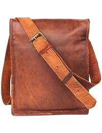 Original Leather Sling Bag / Messenger Bag For Men / Women / Boys / Girls / School / College / Tablets By Pranjals...