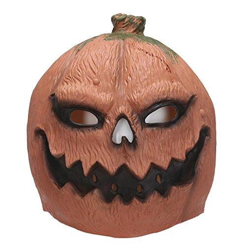 niceEshop(TM) Latex Kürbiskopf Maske Spielzeug für Halloween (Kürbiskopf Maske)