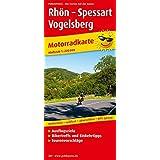 Motorradkarte Rhön - Spessart - Vogelsberg: Mit Tourenvorschlägen, Ausflugszielen, Einkehr- und Freizeittips, reißfest, wetterfest, GPS-genau.