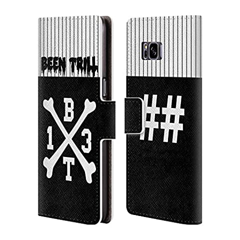 Official Been Trill Crossbone Jersey Leather Book Wallet Case Cover For Samsung Galaxy S8