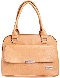 LB- Hand Bag For Women And Girls Durable Spacious Designer Handbags With Multi Compartments Pink,LB-313 (Beige)