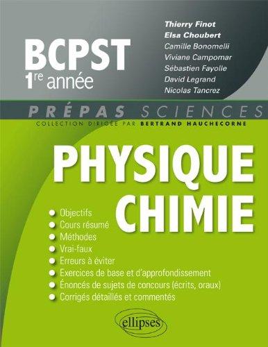 Physique Chimie BCPST 1re Année