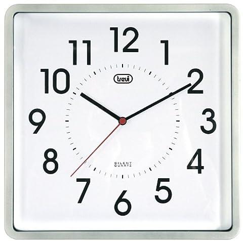Trevi 3304 25cm Silent Quartz Square Wall Clock