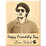 [Sponsored]Engraveindia Wood Friendship Day Wooden Engraved Photo Plaque, 5x4 (ENGRVSB01FD)