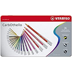STABILO CarbOthello - Lápiz de color tiza-pastel - Caja de metal con 36 colores