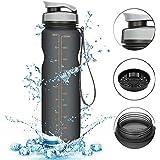 Kurtzy Drinking Water Bottle Sipper Leak Proof Cap Measuring Protein Shaker for Gym Sport School Office Non Toxic