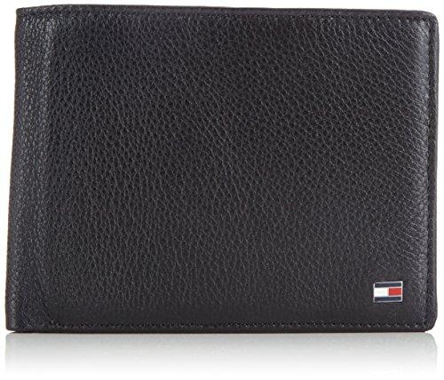 Tommy Hilfiger HAMPTON TRIFOLD BM56927557 Herren Geldbörsen 13x10x3 cm (B x H x T), Schwarz (BLACK 990) (Tri-fold Leder Geprägtes Wallet)