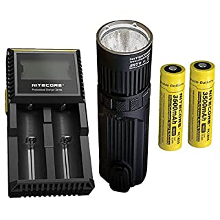 Combo: Nitecore SRT9 Flashlight -2150 Lumens w/2x NL1835 Battery & D2 Charger