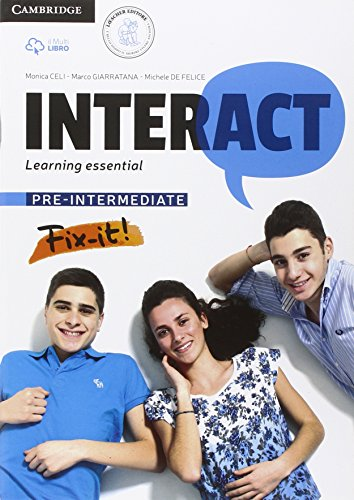Interact pre-intermediate: learning essential. Quaderno BES e DSA. Per le Scuole superiori. Con e-book. Con espansione online: 2