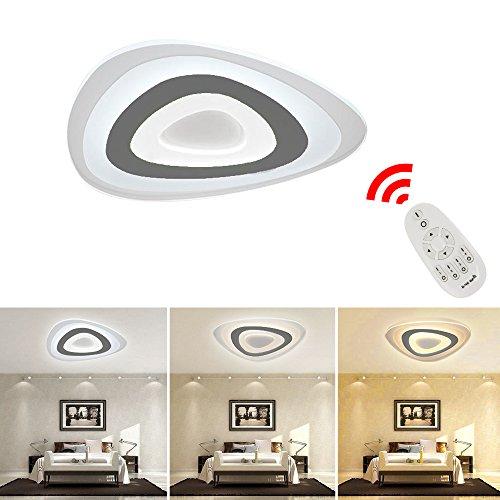 VINGO® 60W LED Deckenleuchte Dimmbar LED Deckenlampe LED Schlafzimmerleuchte Decke Beleuchtung Panel Modern Energiesparende Lichtfarbe und Helligkeit einstellbar mit Fernbedienung