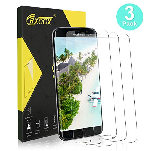CRXOOX 3 Stück Panzerfolie für Samsung Galaxy S7 Panzerglas Schutzfolie Ultra-klar Anti-Fingerabdruck, Anti-Kratzen Blasenfrei Einfache Installation Panzerglasfolie Bildschirmschutzfolie Folie für S7