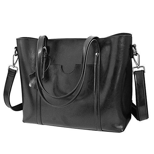 Vovoye Women s Cow Split Leather Shoulder Bag Handbags Briefcase for the  Office Messenger Bag Casual Everyday aa5e414646eda