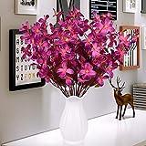 xgruisi Fiore Artificiale nella Pentola Vaso di Ceramica Decorazione della Casa in Lattice Artificiale Tocco Fiore Un Grande Ornamento (N ° 1 Colore)