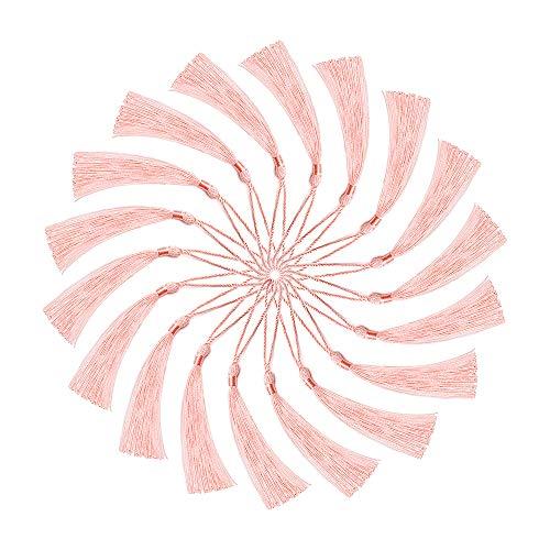 ARTESTAR - 100pcs Handmade Craft, Mini Nappe Passanti, per Fare Gioielli, bricolage, segnalibri, 20 Colori (Rosa)