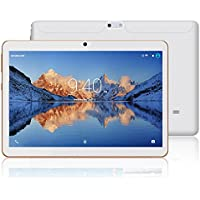Tablets 10.1 Pulgadas Android 7.0 YOTOPT, Quad Core, 2GB + 16GB, 3G Tableta, Dual SIM, WiFi/ Bluetooth/GPS/OTG - Blanco