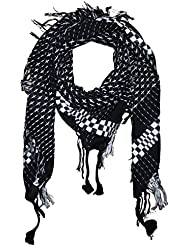 Superfreak® Tuch im Pali Stil mit Kreuzmuster ° PLO Schal ° 95x95 cm°Pali Palästinenser Arafat Tuch°100% Baumwolle – alle Farben!!!